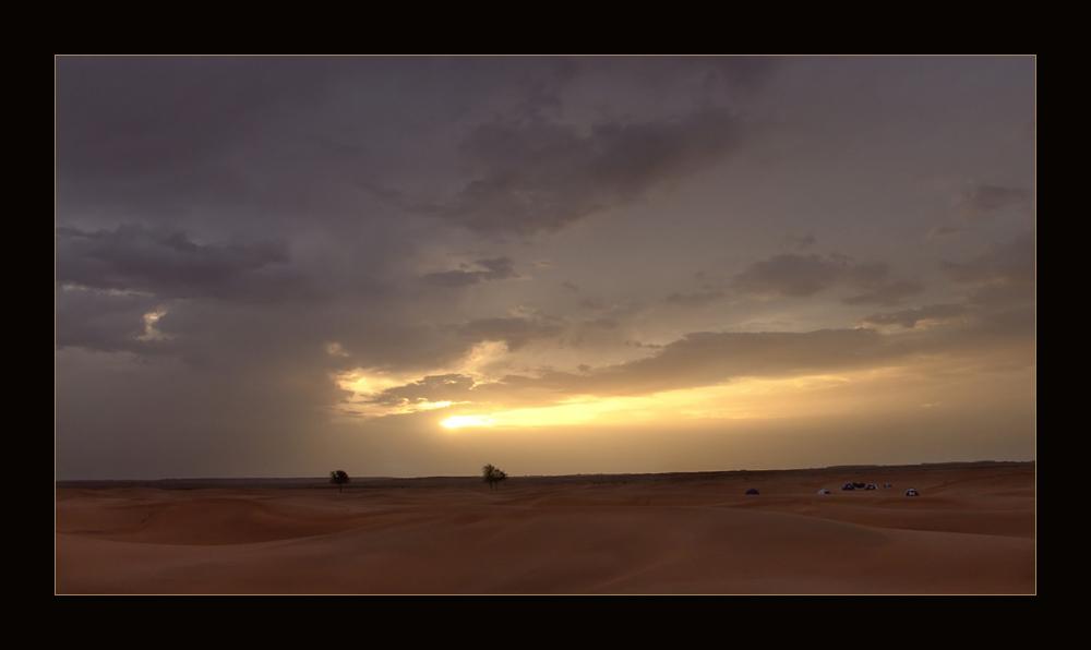 Am Morgen nach dem nächtlichen Gewitter