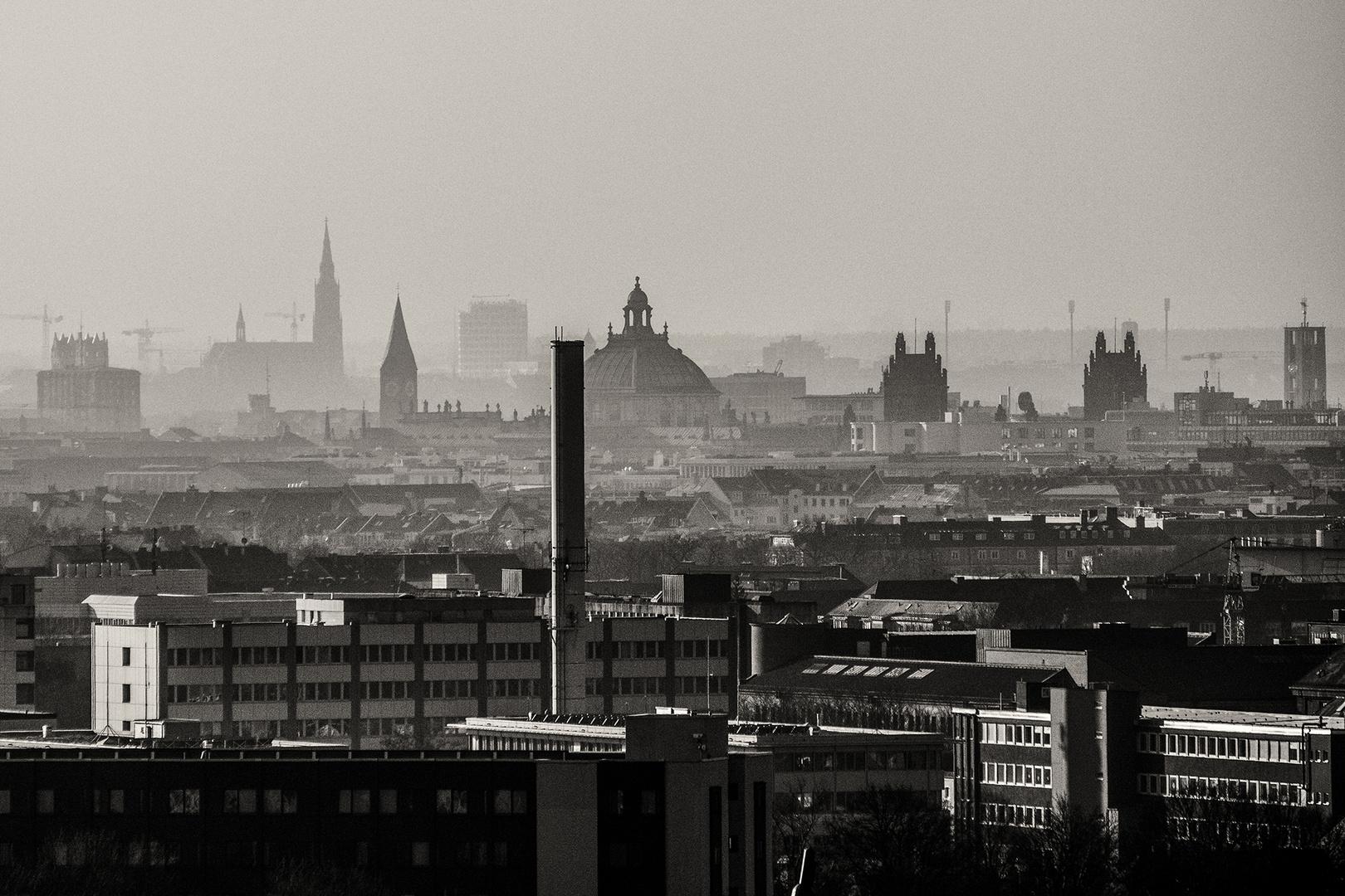 Am Morgen über der Stadt
