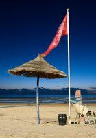 Am nächtlichen Strand von Agadir