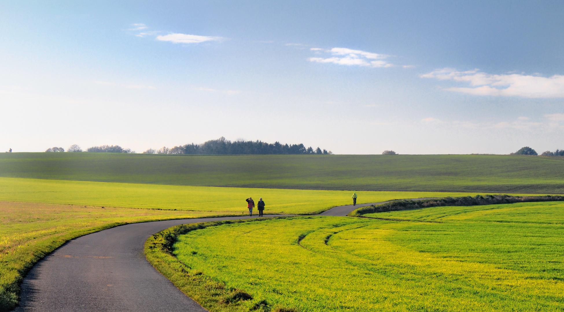 Am Niederrhein - Durch die Felder
