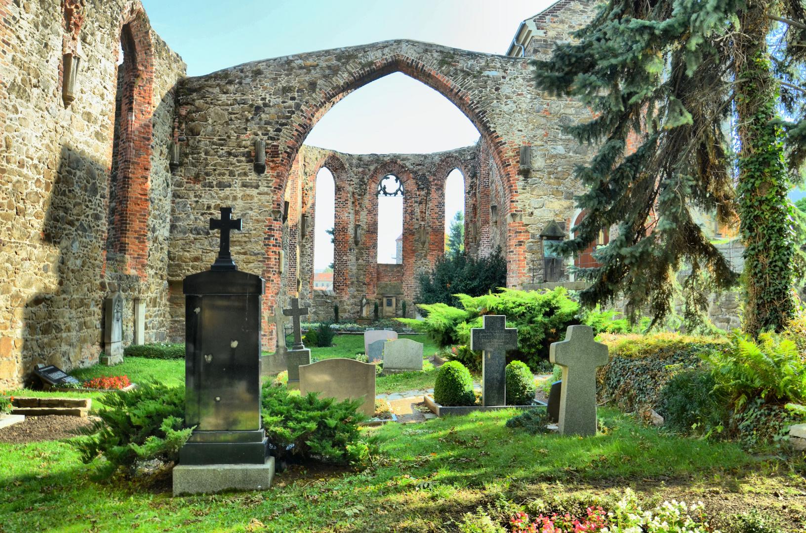 Am Nikolei Friedhof in Bautzen