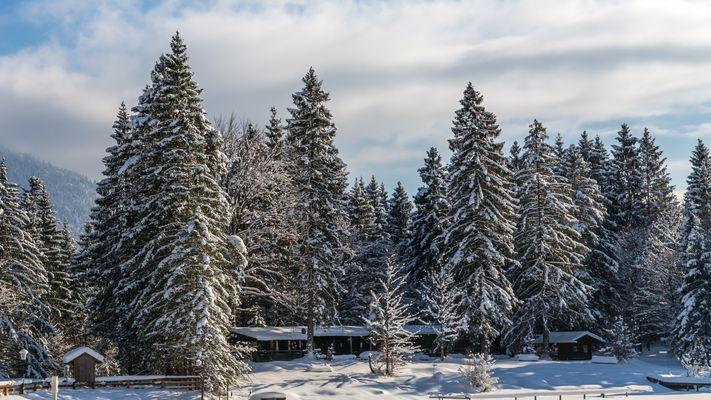 Holzh tte fotos bilder auf fotocommunity for Fischteich im winter