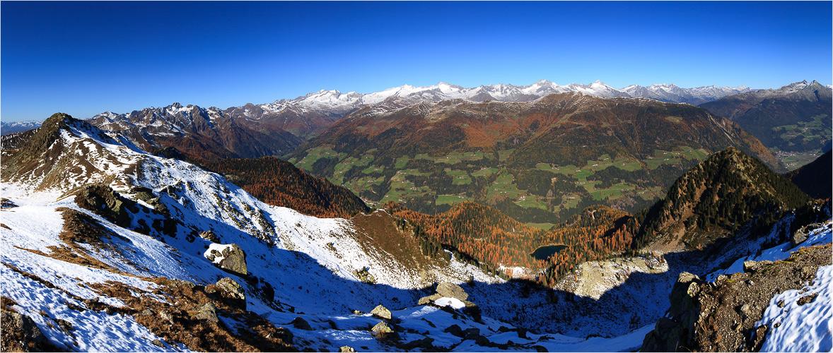 am Pfunderer Höhenweg - Herbstschnee