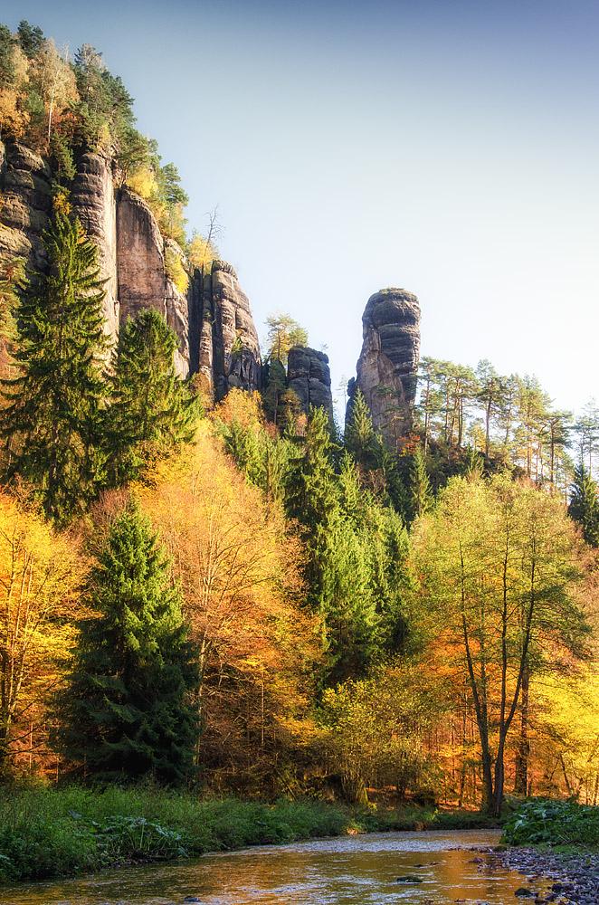 Am Polenztalwächter liegt der Herbst in den letzten Zügen