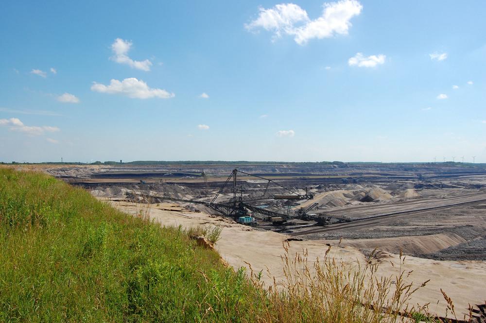 am Rand des Tagebaus