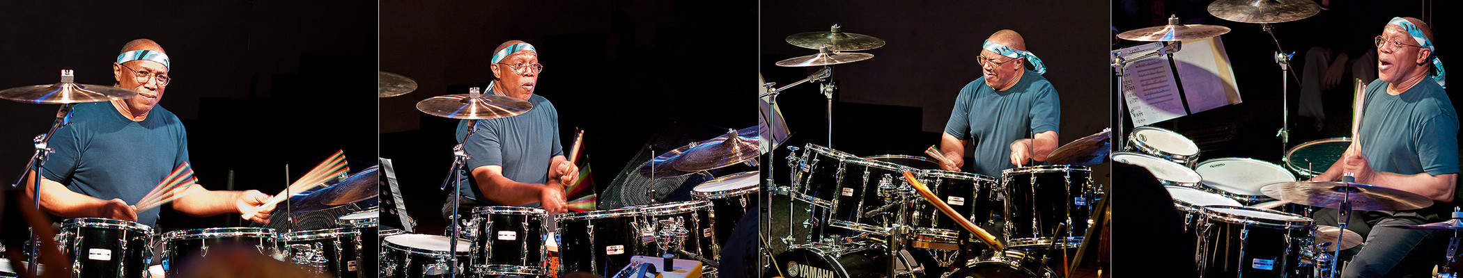 am Schlagzeug...