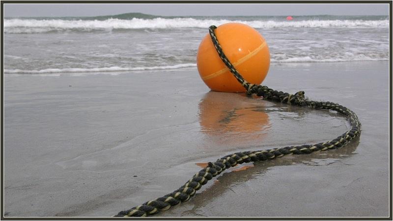 Am Strand...