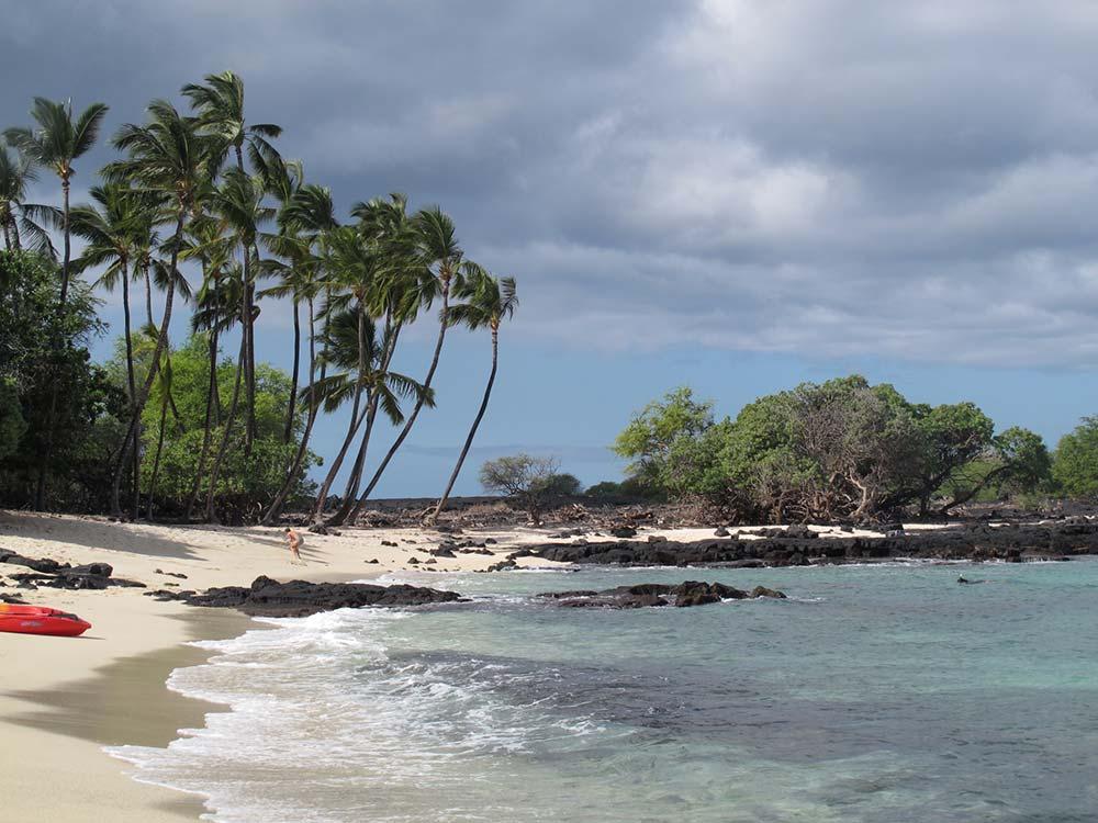 Am Strand auf der Insel Hawaii