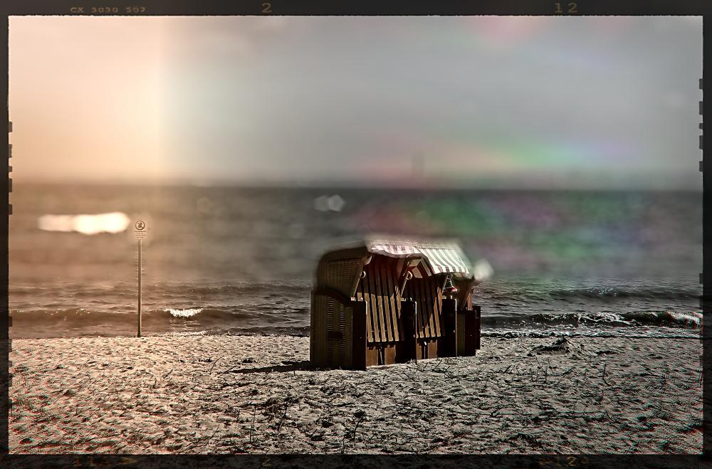 Am Strand für Zwei