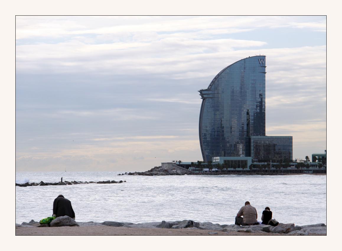 am Strand in Barcelon 5