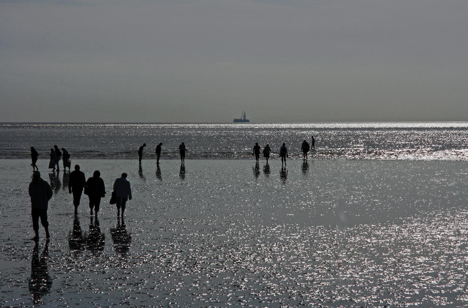 Am Strand in Büsum