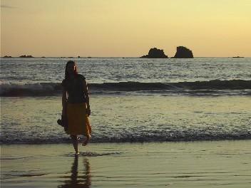 Am Strand in Costa Rica