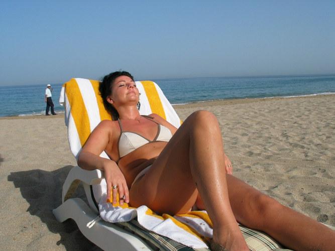 am strand in Dubai
