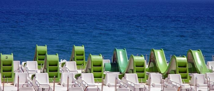 Am Strand in Spanien....