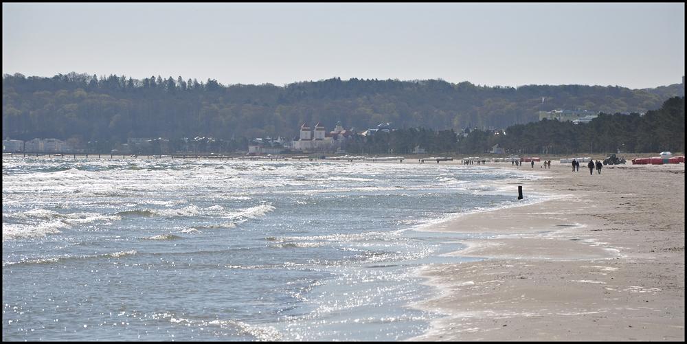 Am Strand nach Binz