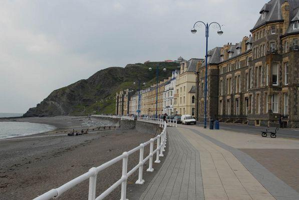 Am Strand von Aberystwyth