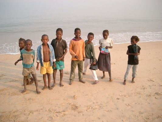 Am Strand von Benguela, Angola