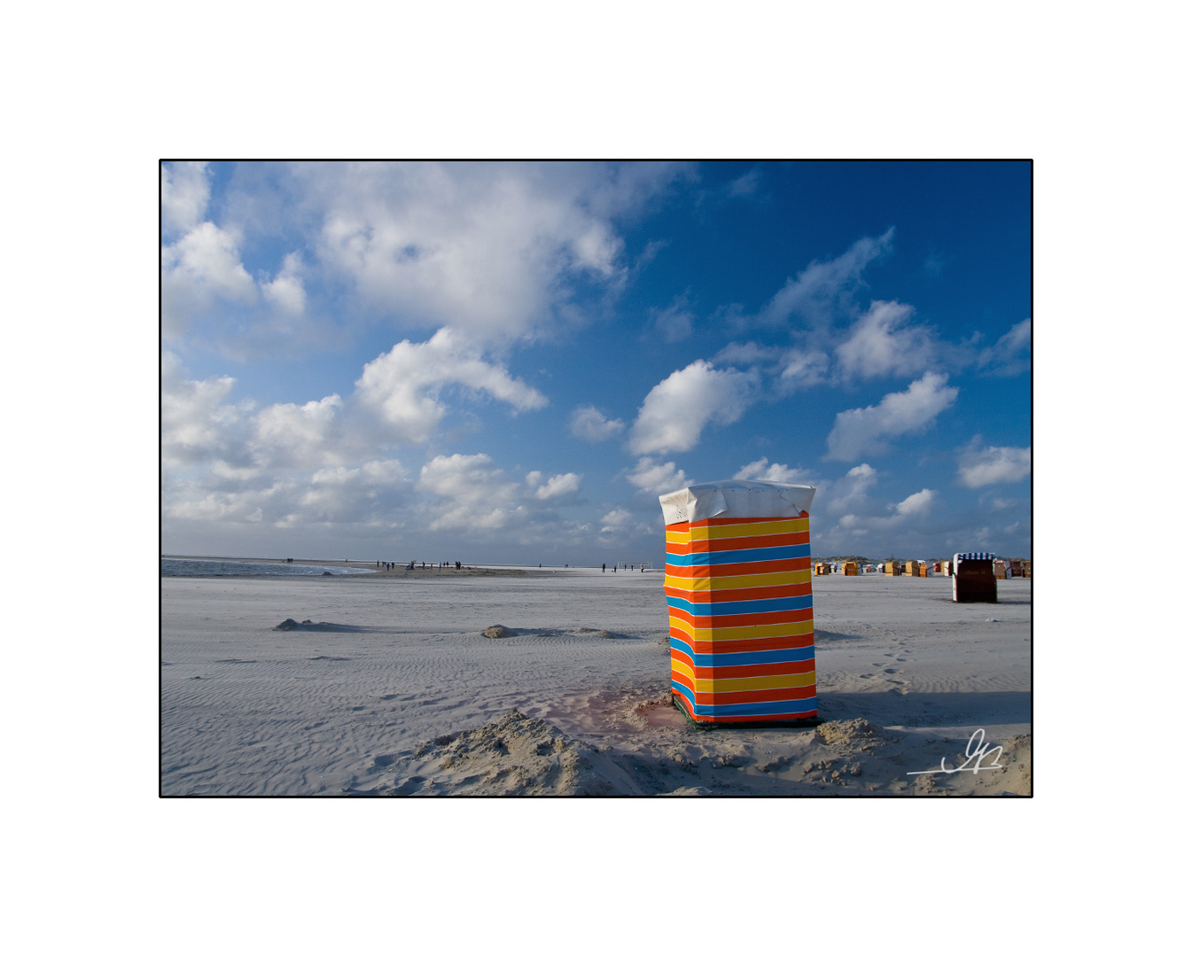 am Strand von Borkum