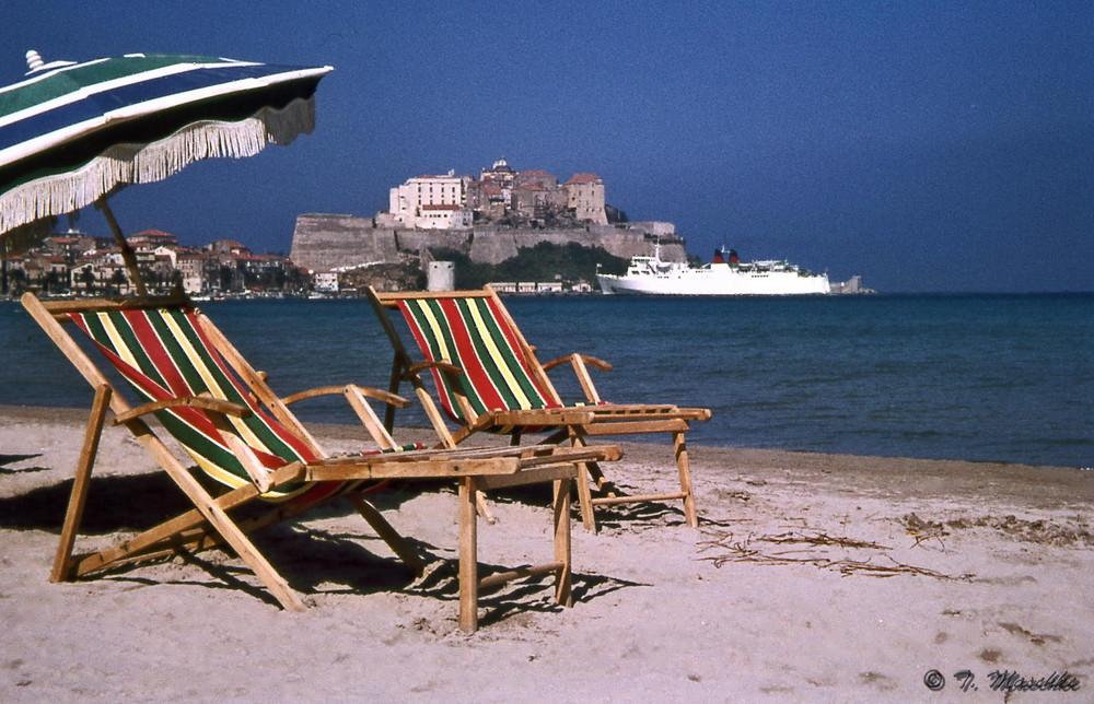 Am Strand von Calvi 1966