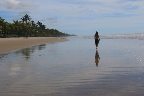 am Strand von Canavieiras