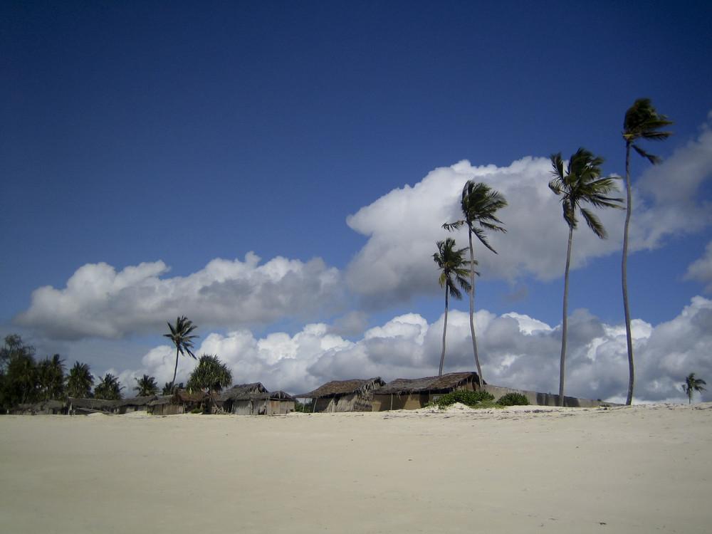 Am Strand von Diana Beach, Mombasa