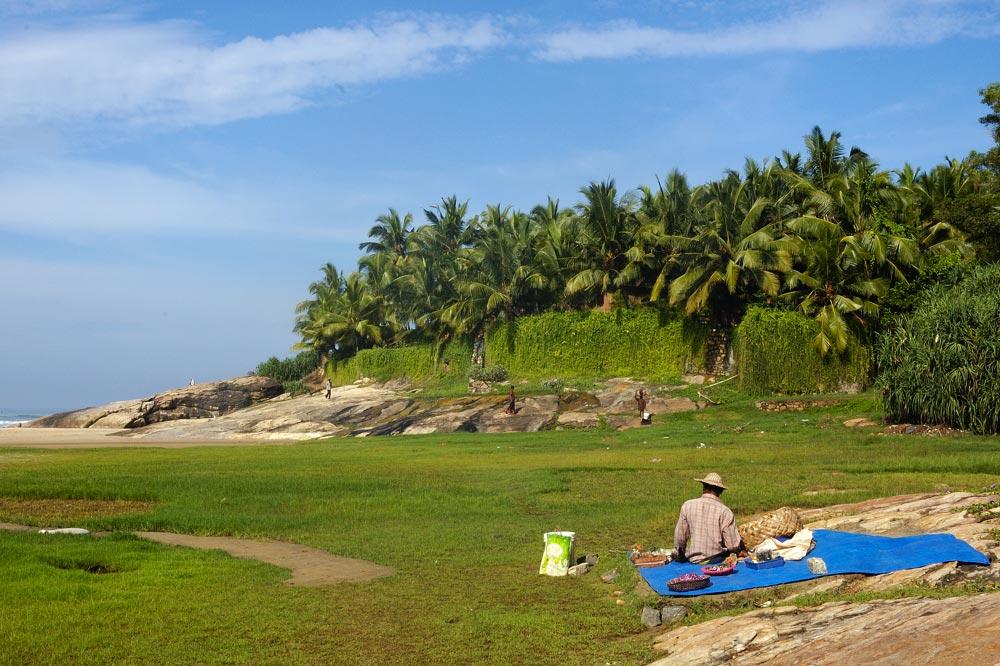 Am Strand von Kerala