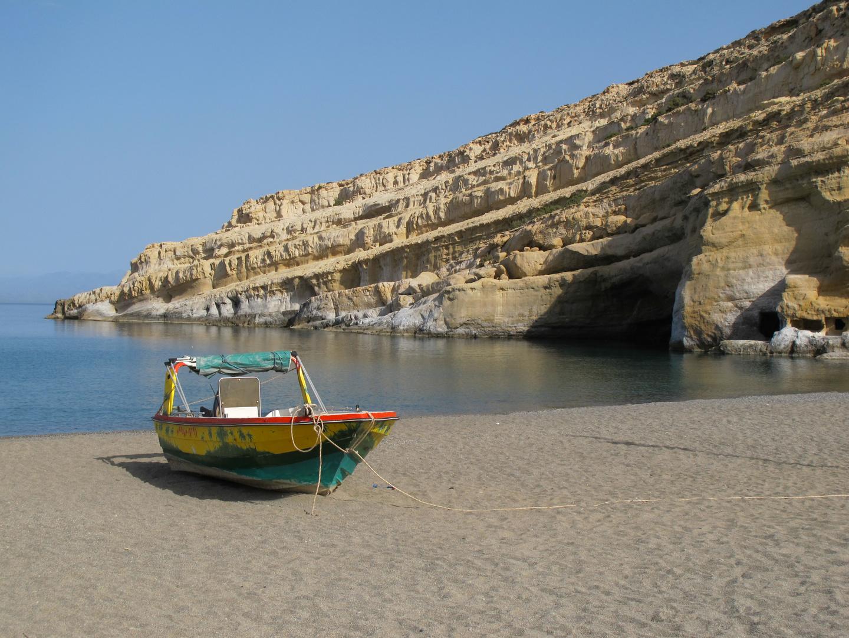 Am Strand von Matala (Südküste Kreta)