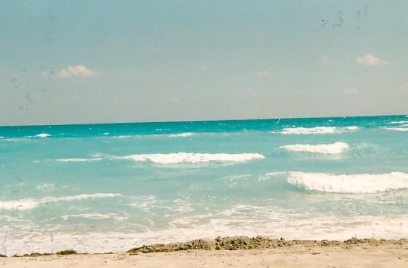 Am Strand von Miami Beach...