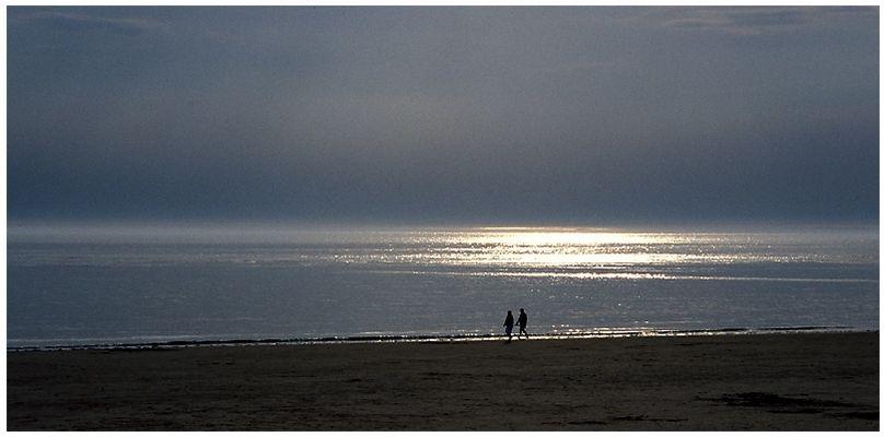 Am Strand von Norderney ...