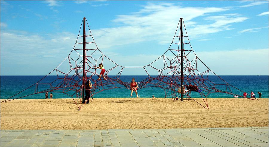 Am Strand von Platja d'Aro, Spanien