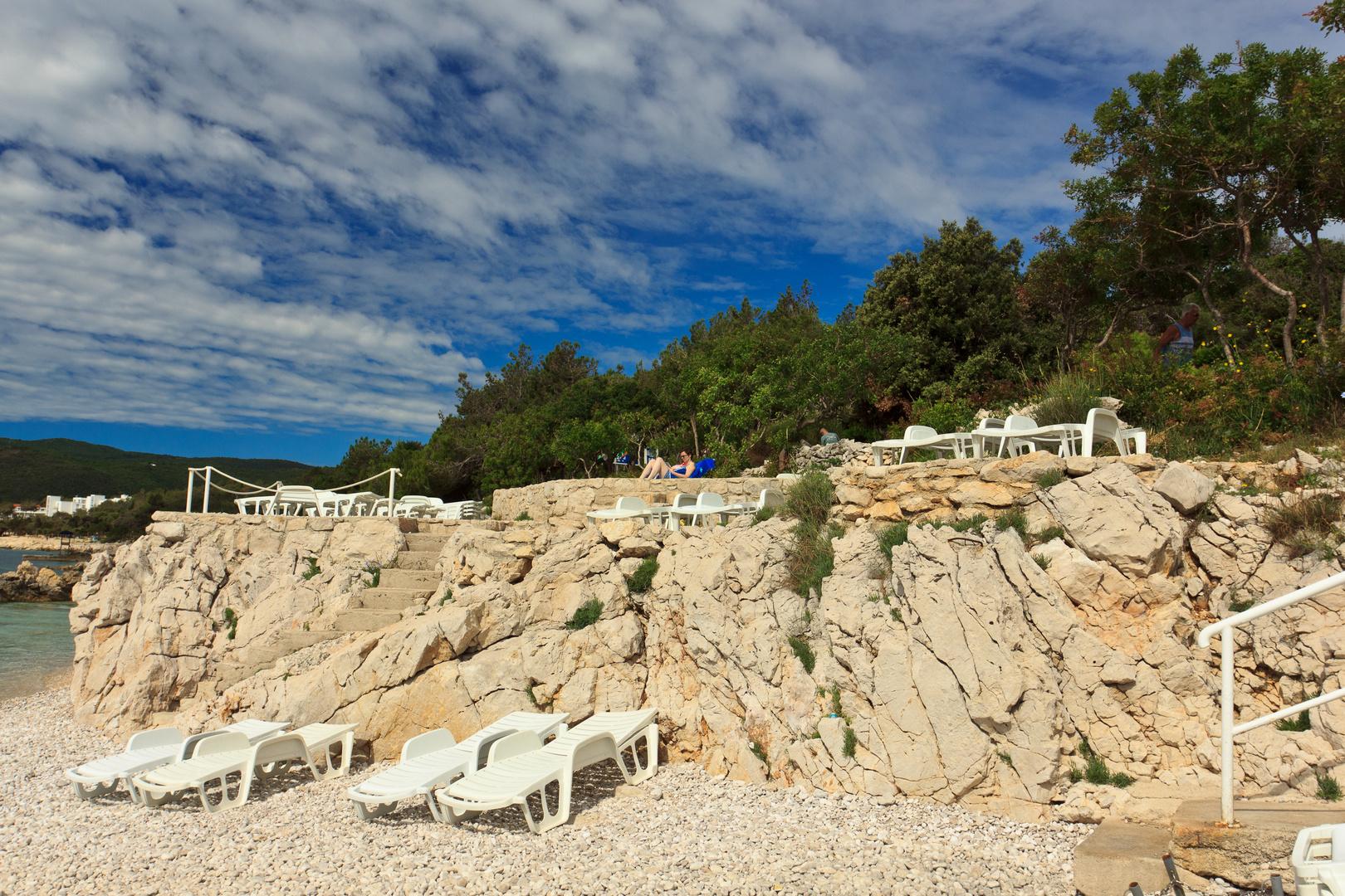 Am Strand von Rabac (Istrien)