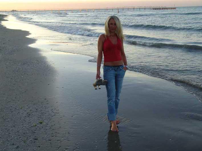 Am Strand von Rimini