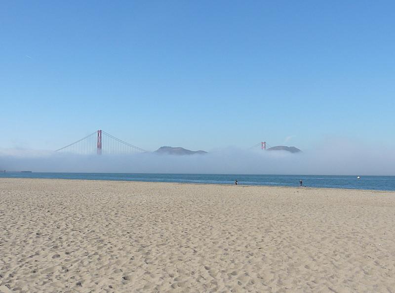 Am Strand von San Francisco