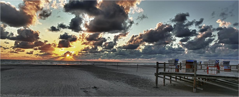am Strand von Sankt Peter Ording