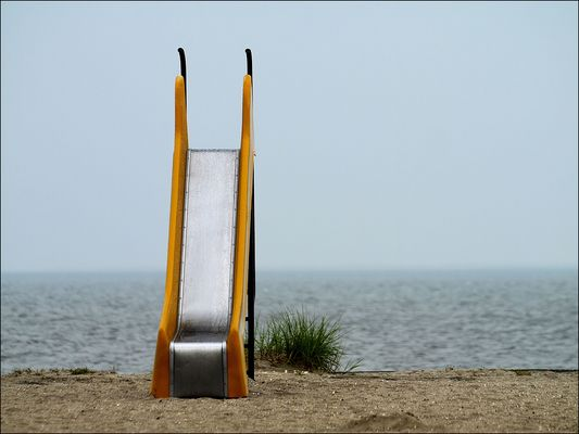 am Strand von Schillig...