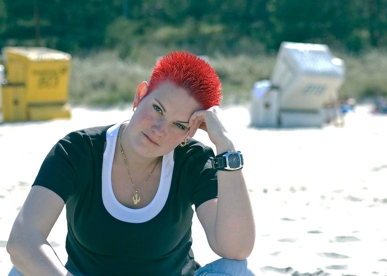 am Strand von Zinnowitz auf Usedom