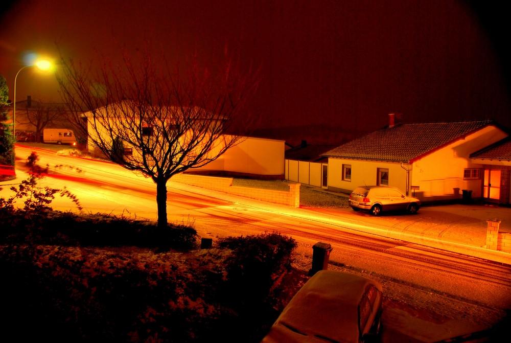 Am Tag als der erste Schnee fiel.