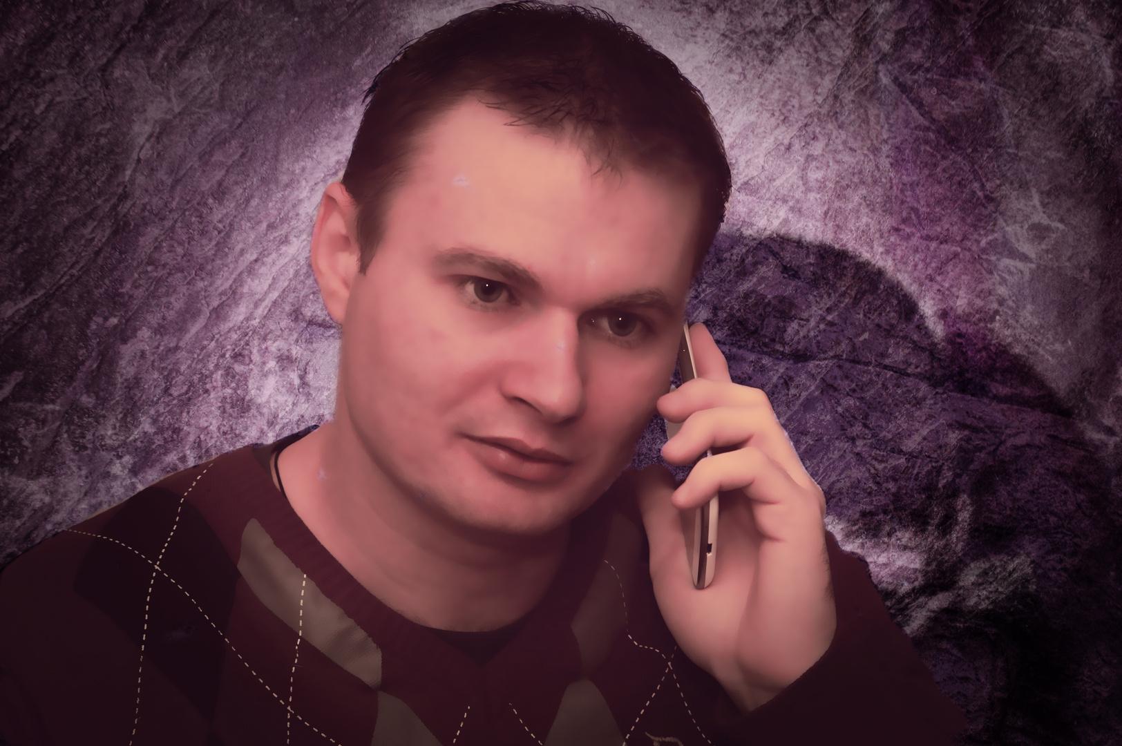 am telefoniern