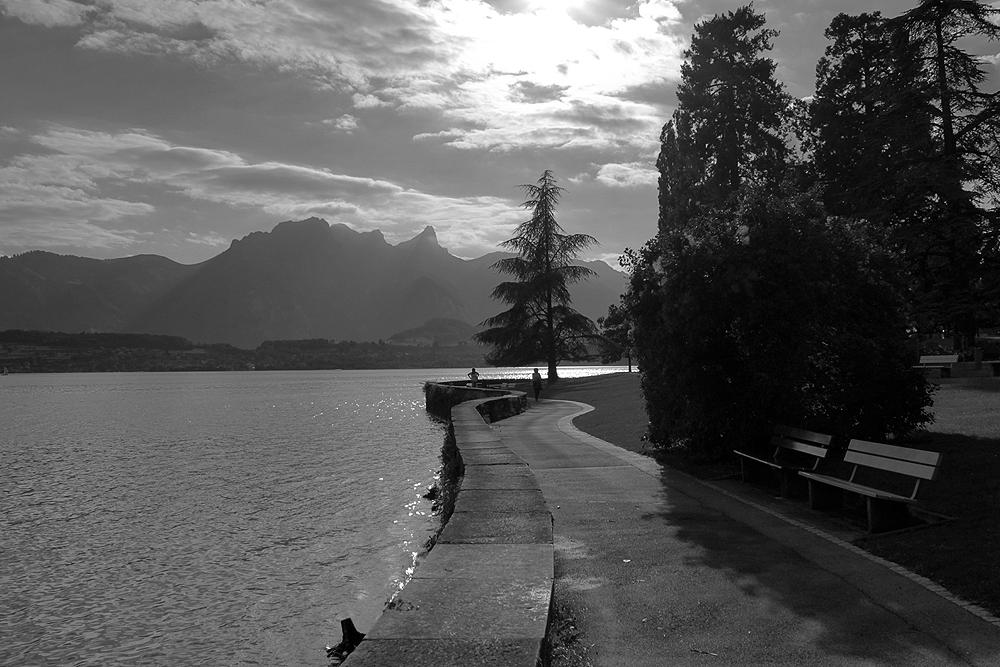 Am Ufer entlang