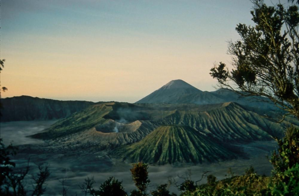 am Vulkan früh am Morgen
