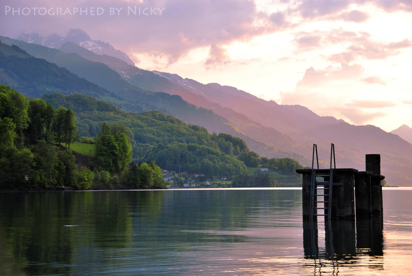 am Walensee in der Schweiz