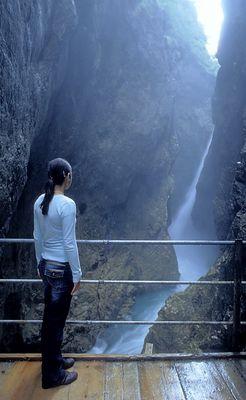 Am Wasserfall der Leutaschklamm