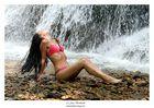Am Wasserfall mit Sonja
