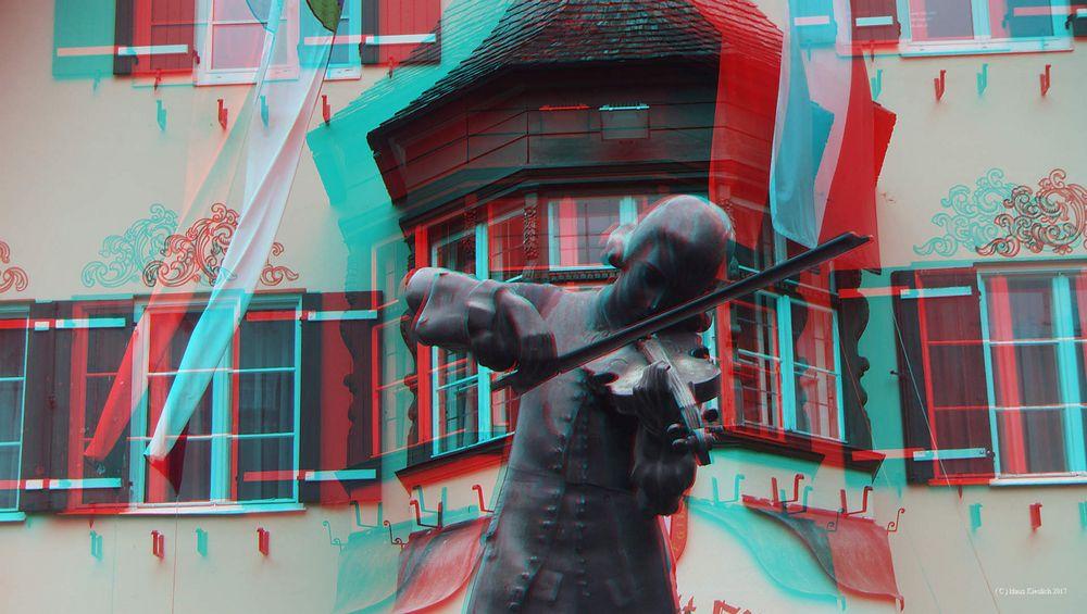 Amadeus Mozart vorm Rathaus in St.Gilgen