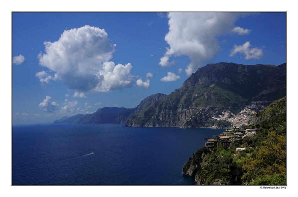 Amalfiküste, mal als Postkarte
