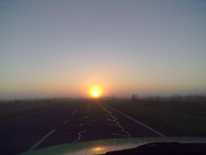 amanece en la ruta