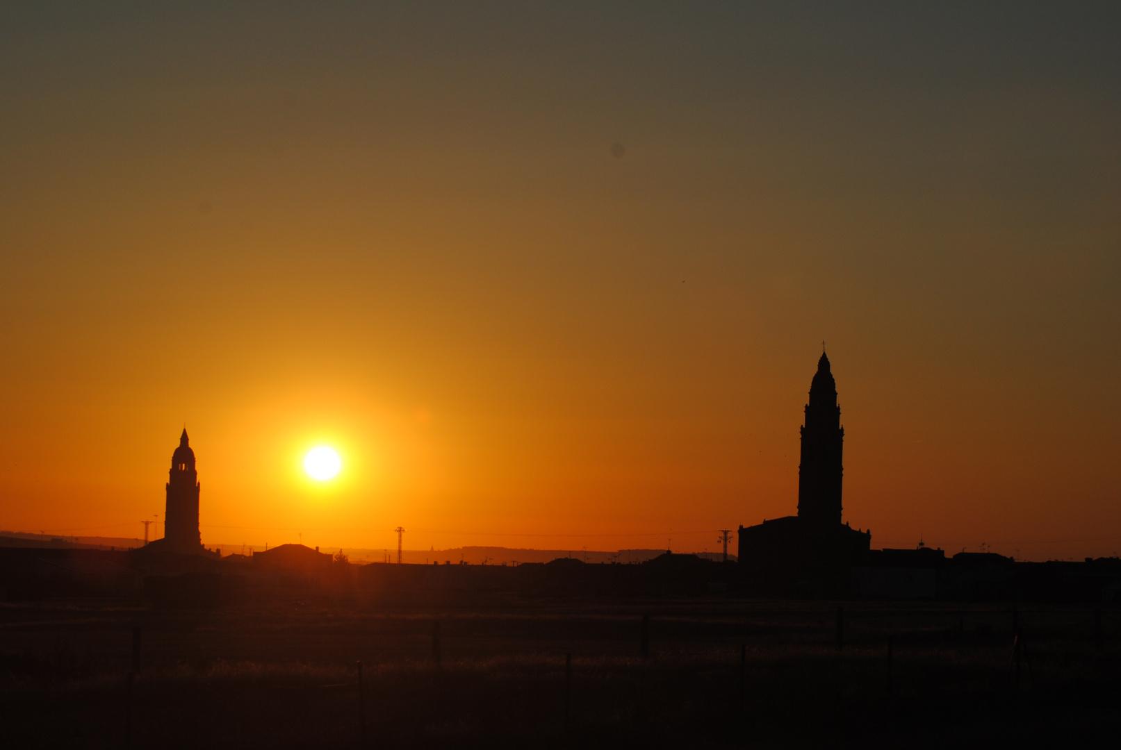 amanecer a camino de Cale