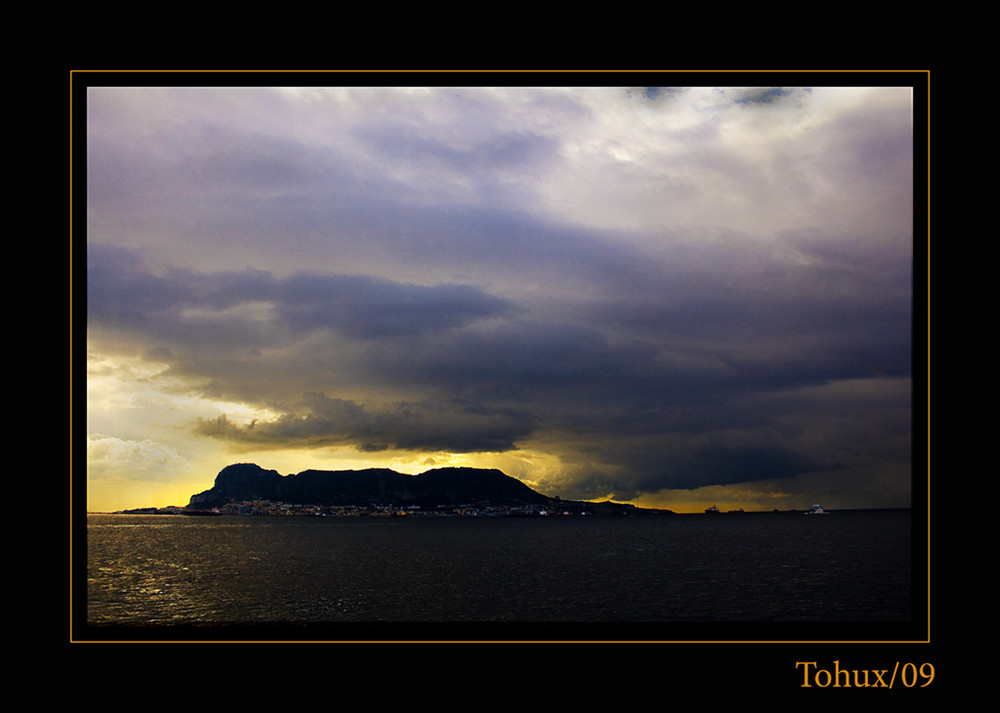 Amaneciendo en Gibraltar