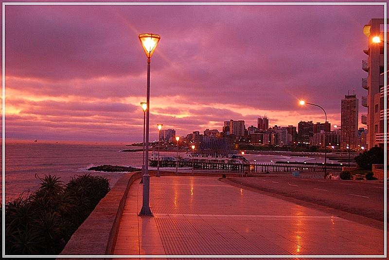 amaneciendo en Mar del Plata- Argentina - a las 6,30 hs de la mañana