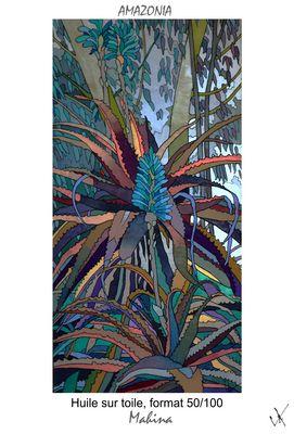 AMAZONIA-MAHINA toile definitive format50/100 huile carte postale